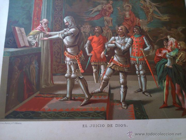 Arte: * ANTIGUAS CROMOLITOGRAFIAS: LOTH Y EL JUICIO DE DIOS - Foto 3 - 50033093
