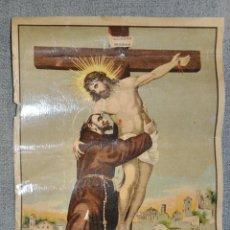 Arte: CROMOLITOGRAFIA DE RAFAEL ALCALA , DE MÁLAGA , SAN FRANCISCO DE ASIS DE 1930 APROXIMADAMENTE . Lote 50488575