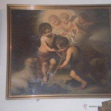 Arte: EL NIÑO JESUS,S. JUANIN Y EL CORDERO CROMOGRAFIA S XIX. Lote 50556317
