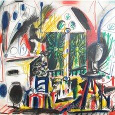 Arte: PICASSO / INTERIOR LA CALEFORNIE. CROMOLITOGRAFÍA MONTADA PASSPARTOUT.FECHADA PLANCHA MOURLOT. Lote 29885215