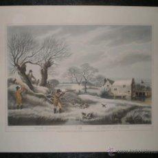 Arte: SNIPE SHOOTING - LA CHASSE AUX GRIVES (LA CAZA DE TORDOS). Lote 190908932