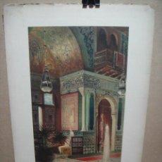 Arte: CROMOLITOGRAFIA DE ARQUITECTURA DE INTERIORES - HALL ORIENTAL - GEORGES REMON - E.THEZARD EDITOR. Lote 52730964