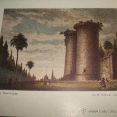 Arte: VALENCIA TORRES DE QUART ANTIGUA CROMOLITOGRAFIA. Lote 52940053