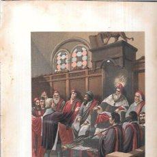 Arte: CROMOLITOGRAFÍA. COLÓN ANTE EL SENADO DE VENECIA. 30,1 X 21,3.. Lote 53506578