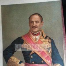 Arte: D. BALDOMERO ESPARTERO ,GENERAL LIBERAL DE LA PRIMERA GUERRA CARLISTA (CROMOLITOGRAFIA DEL AÑO 1889). Lote 53633767