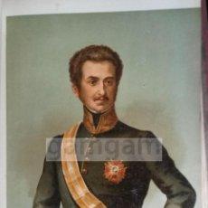 Arte: D. LUIS FERNANDEZ DE CORDOVA , GENERAL LIBERAL DE LA 1ª GUERRA CARLISTA (CROMOLITOGRAFIA AÑO 1889). Lote 53633974