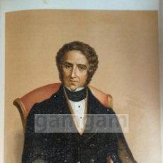 Arte: JUAN MENDIZABAL ( CADIZ ), MINISTRO LIBERAL DE LA 1ª GUERRA CARLISTA (CROMOLITOGRAFIA DEL AÑO 1889). Lote 117512816