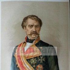 Arte: D.AGUSTIN NOGUERAS,GOBERNADOR MILITAR DE CASTELLON 1ª GUERRA CARLISTA (CROMOLITOGRAFIA DEL AÑO 1890). Lote 53635296