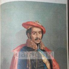 Arte: RAMON CABRERA,LIDER CARLISTA DE TORTOSA (CATALUÑA) 1ª GUERRA CARLISTA (CROMOLITOGRAFIA DEL AÑO 1890). Lote 53635617