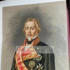Arte: GENERAL EVARISTO SAN MIGUEL ( GIJON , ASTURIAS ) 1ª GUERRA CARLISTA (CROMOLITOGRAFIA DEL AÑO 1890). Lote 53636280
