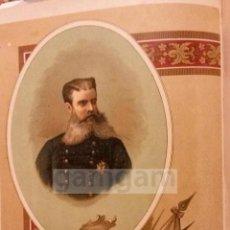 Arte: ANTONIO DORREGARAY , CARLISMO , GUERRA CARLISTA (CROMOLITOGRAFIA DEL AÑO1892). Lote 54211356