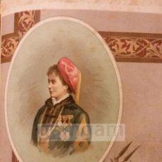 Arte: MARIA DE LAS NIEVES DE BORBON , CARLISMO , GUERRA CARLISTA (CROMOLITOGRAFIA DEL AÑO1892). Lote 54211358