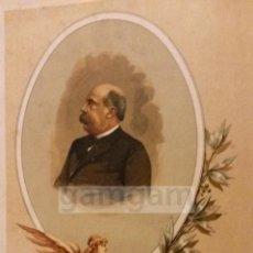 Arte: EMILIO CASTELAR ( CADIZ )PRESIDENTE Iª REPUBLICA , CARLISMO , 2ªG CARLISTA (CROMOLITOGRAFIA AÑO1892). Lote 54211382