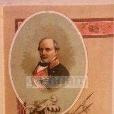 Arte: MANUEL DE LA CONCHA , CARLISMO , GUERRA CARLISTA (CROMOLITOGRAFIA AÑO1892). Lote 54211420