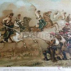 Arte: ACCION DE PIEDRABUENA CIUDAD REAL , CARLISMO , GUERRA CARLISTA (CROMOLITOGRAFIA AÑO1892). Lote 54211426