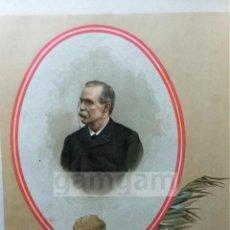 Arte: CANOVAS DEL CASTILLO , CARLISMO , GUERRA CARLISTA (CROMOLITOGRAFIA AÑO1892). Lote 54211428