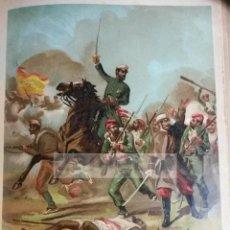 Arte: GENERAL PRIM ( REUS ) GUERRA DE AFRICA , CARLISMO (CROMOLITOGRAFIA AÑO1890). Lote 54211467