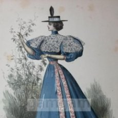 Arte: CROMOLITOGRAFIA DE LA MODA FEMENINA FRANCESA EN 1895 (IDEAL PARA ENMARCAR) - 35X25CM - REF.6 MADRID. Lote 54227248