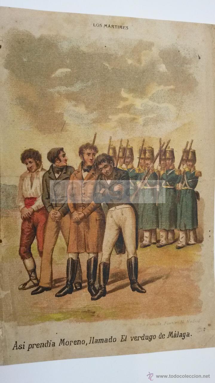 MORENO EL VERDUGO DE MALAGA - CARLISMO - (CROMOLITOGRAFIA DEL AÑO 1880) (Arte - Cromolitografía)