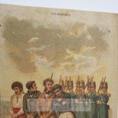 Arte: MORENO EL VERDUGO DE MALAGA - CARLISMO - (CROMOLITOGRAFIA DEL AÑO 1880). Lote 54317282