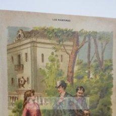 Arte: CROMOLITOGRAFIA ROMANTICA (CROMOLITOGRAFIA DEL AÑO 1880). Lote 54317410