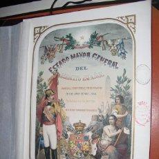 Arte: FRONTIS DEL ESTADO MAYOR GENERAL DEL EJERCITO ESPAÑOL SECCION DE TENIENTES GENERALES. Lote 54706206