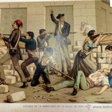 Arte: MUERTE DEL ALCALDE DE ALCOY DON AGUSTIN ALBORAS, CARLISMO ,GUERRA CARLISTA (CROMOLITOGRAFIA AÑO1892). Lote 54782941