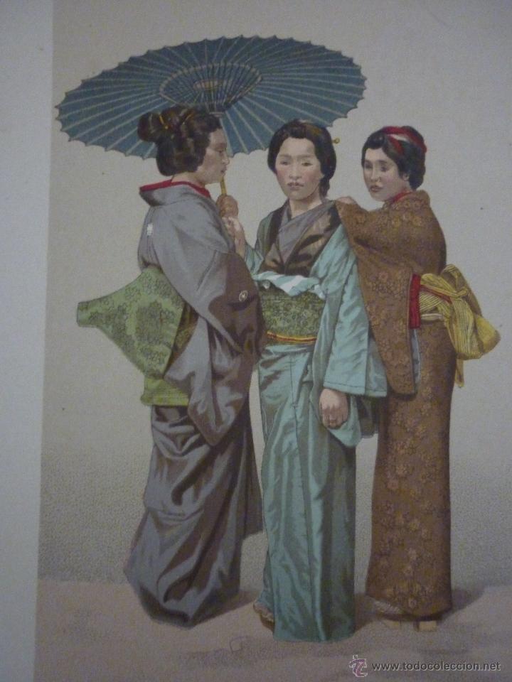 Arte: CROMOLITOGRAFÍA. RAZA AMARILLA. JAPONESES. DE LA GEOGRAFÍA UNIVERSAL DE MALTE-BRUN 1876. - Foto 2 - 55059684