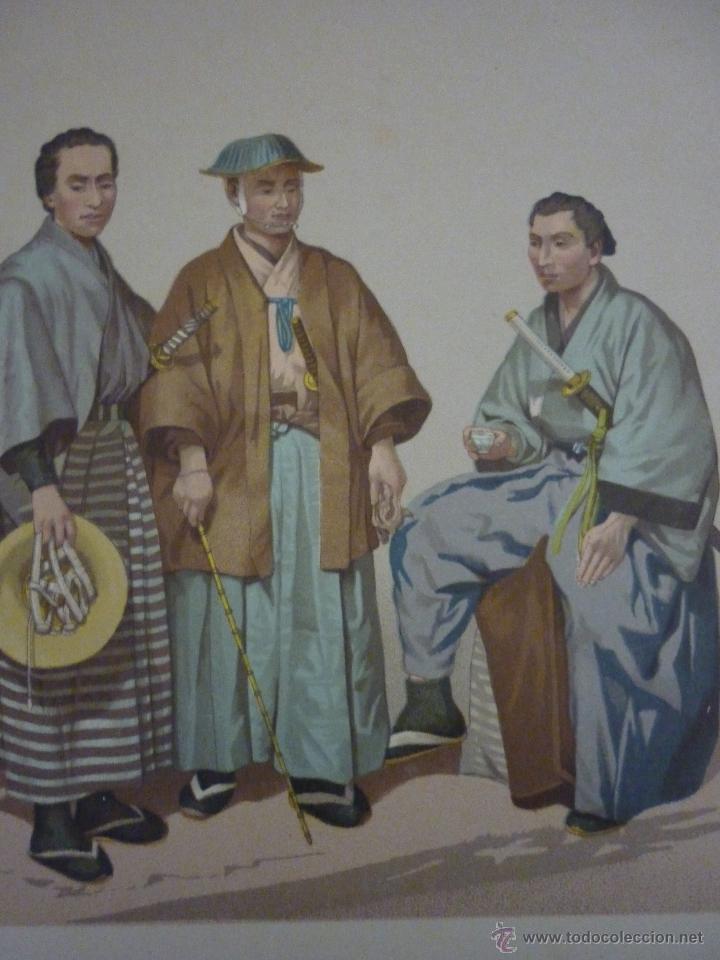 Arte: CROMOLITOGRAFÍA. RAZA AMARILLA. JAPONESES. DE LA GEOGRAFÍA UNIVERSAL DE MALTE-BRUN 1876. - Foto 3 - 55059684
