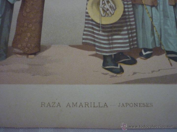 Arte: CROMOLITOGRAFÍA. RAZA AMARILLA. JAPONESES. DE LA GEOGRAFÍA UNIVERSAL DE MALTE-BRUN 1876. - Foto 4 - 55059684