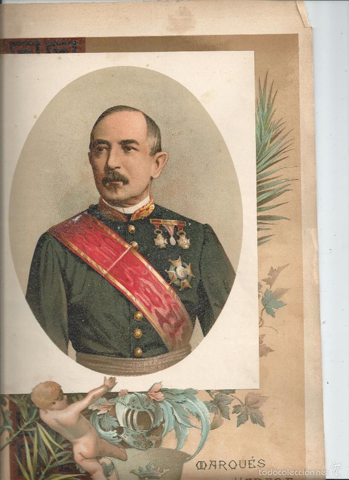RETRATO DEL MARQUÉS DE LA HABANA CUBA - 32X23 CROMOLITOGRAFÍA (C. 1890) (Arte - Cromolitografía)