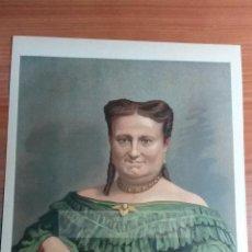 Arte: Dª MARIA CRISTINA DE BORBON , REINA REGENTE, 1ª GUERRA CARLISTA (CROMOLITOGRAFIA DEL AÑO 1891). Lote 57498737
