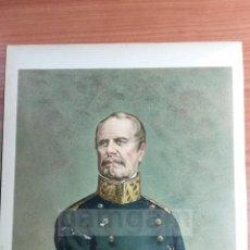Arte: GENERAL RAFAEL MAROTO ( LORCA ) 1ª GUERRA CARLISTA (CROMOLITOGRAFIA DEL AÑO 1891). Lote 57498786