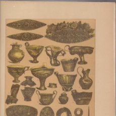 Arte: GRIEGOS.CROMOLITOGRAFIA DE FINALES DEL SIGLO XIX.TAMAÑO: 33 X 24 CTMS.. Lote 57588137