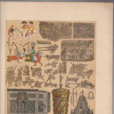 Arte: ALEMANES.CROMOLITOGRAFIA DE FINALES DEL SIGLO XIX.TAMAÑO: 33 X 24 CTMS.. Lote 57588150