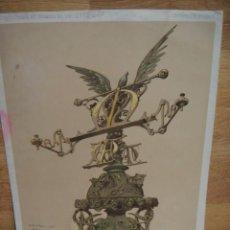 Arte: LUTRI , NOTRE DAME DE PARIS - DISEÑO DE VIOLET LE DUC. Lote 57791528