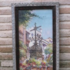 Arte: CROMOLITOGRAFIA ANTIGUA - CRUZ DE LOS FAROLES - SEVILLA. PPOS. SIGLO XX.. Lote 58329631