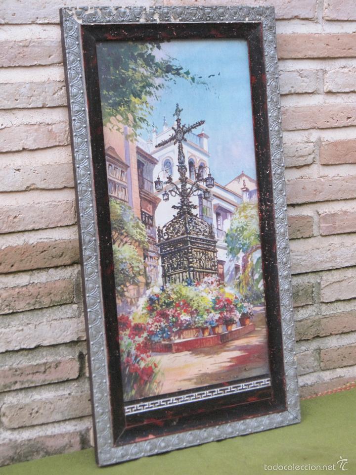 Arte: CROMOLITOGRAFIA ANTIGUA - CRUZ DE LOS FAROLES - SEVILLA. PPOS. SIGLO XX. - Foto 3 - 58329631