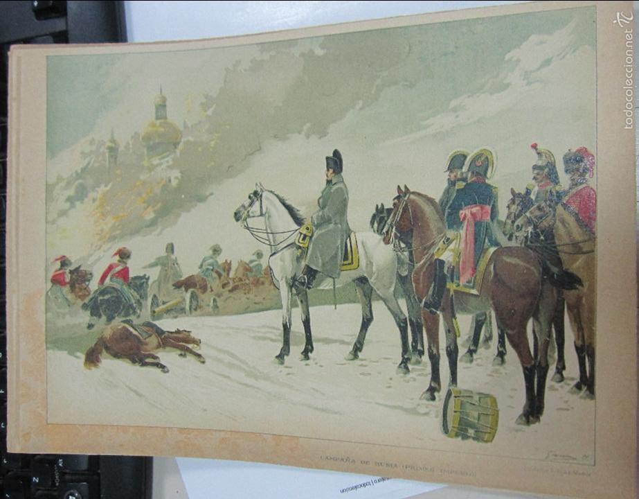 CROMOLITOGRAFIA. CAMPAÑA DE RUSIA (PRIMER IMPERIO). LIT. FELIPE G.ROJAS. 30 X 21CM (Arte - Cromolitografía)