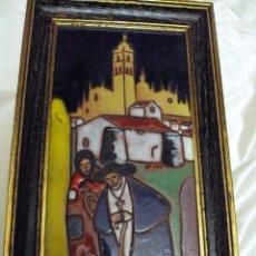 Arte: CUADRO DE PORCELANA DE LA ESCUELA DE SEGOVIA. Lote 59604359