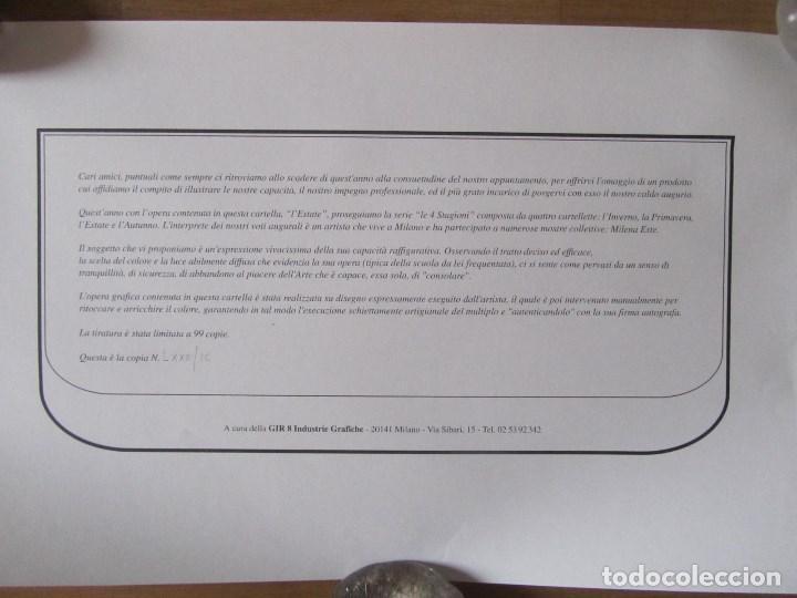 Arte: Milena Este Reproducción obra gráfica Verano Impresión digital firmada y numerada a lápiz 72/99 - Foto 8 - 62514796