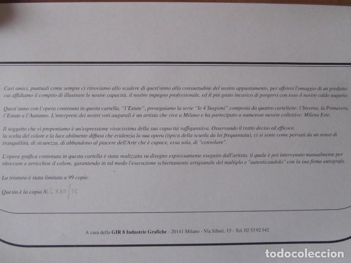 Arte: Milena Este Reproducción obra gráfica Verano Impresión digital firmada y numerada a lápiz 72/99 - Foto 9 - 62514796