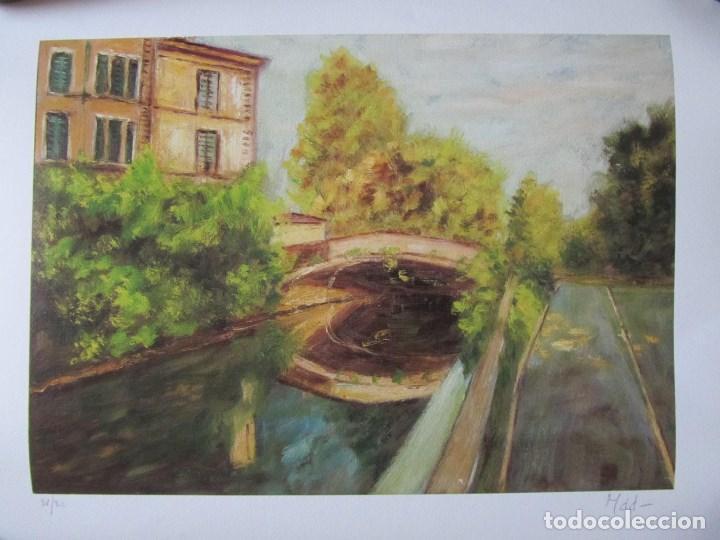 Arte: Milena Este Reproducción obra gráfica Primavera Impresión digital firmada y numerada a lápiz 4/99 - Foto 2 - 62514920