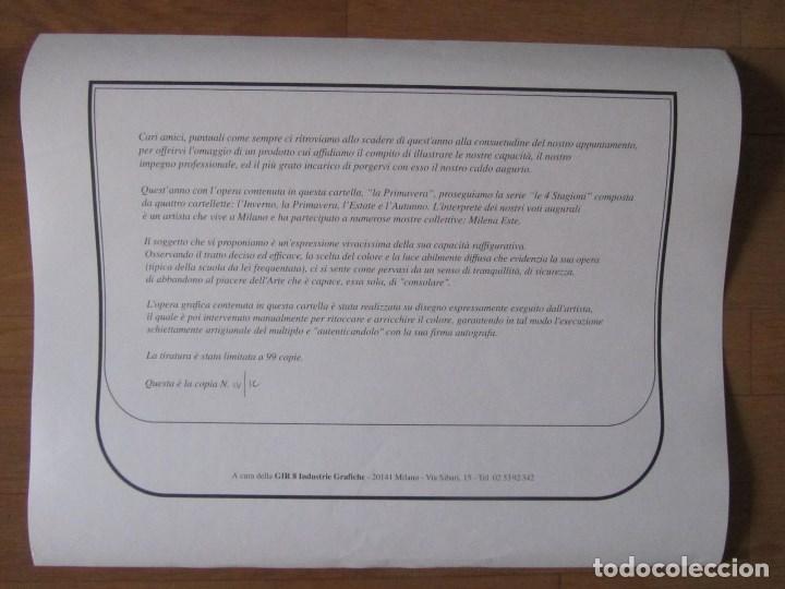 Arte: Milena Este Reproducción obra gráfica Primavera Impresión digital firmada y numerada a lápiz 4/99 - Foto 6 - 62514920