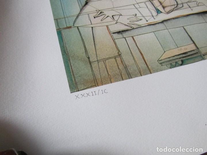 Arte: Silvano Vismara reproducción obra gráfica Impresión digital firmada y numerada lápiz 32/99 - Foto 3 - 62516432
