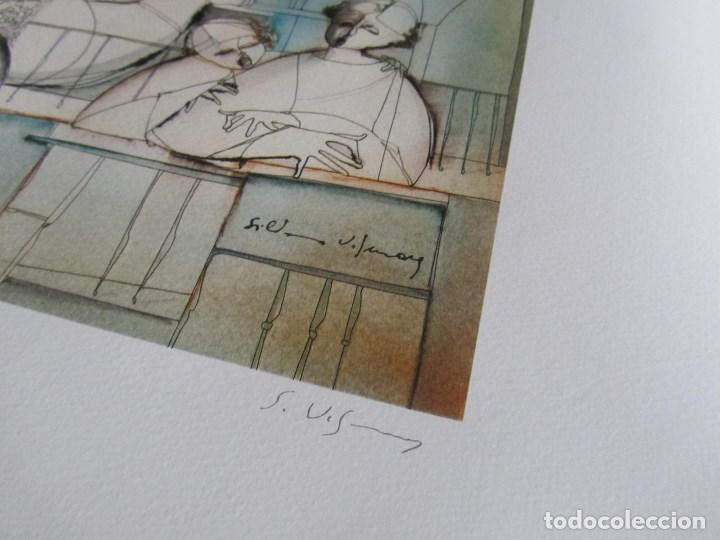 Arte: Silvano Vismara reproducción obra gráfica Impresión digital firmada y numerada lápiz 32/99 - Foto 4 - 62516432