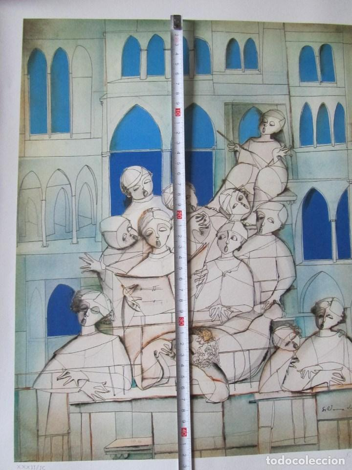 Arte: Silvano Vismara reproducción obra gráfica Impresión digital firmada y numerada lápiz 32/99 - Foto 6 - 62516432