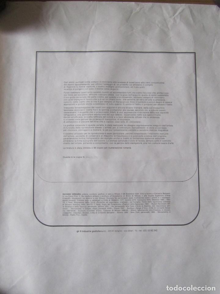 Arte: Silvano Vismara reproducción obra gráfica Impresión digital firmada y numerada lápiz 32/99 - Foto 8 - 62516432