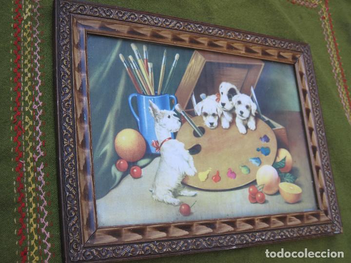 Arte: CROMOLITOGRAFIA ANTIGUA - PERROS. - Foto 3 - 66114158