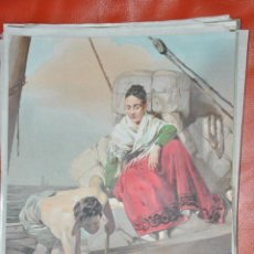 Arte: CROMOLITOGRAFIA , DEL PINTOR DOMINGUEZ DE 1872 APROXIMADAMENTE. Lote 67734133